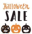 halloween sale poster vector image