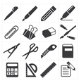 icon stationary education vector image