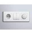 Switchs Sockets Realistic Panel vector image