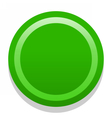 3D green blank icon in flat style vector image