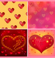 valentine background set vector image