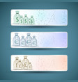 money bags banners set vector image
