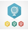 Vecrot globe icon flat vector image