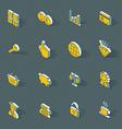 isometric flat design icon set vector image vector image