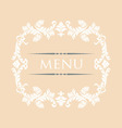 menu 28 vector image vector image