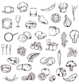 Food sketches of icons set vector image vector image