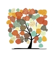 Beautiful autumn tree for your design vector image vector image