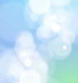 Abstract Bokeh Light Blue Background vector image