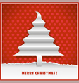 original new year card with christmas tree made fr vector image vector image