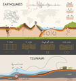 Infographics about the earthquake and tsunami vector image