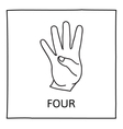 Doodle Counting Fingers icon vector image