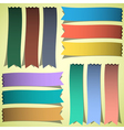 set of bookmarks or ribbons vector image vector image