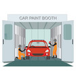 auto mechanic worker painting new car at car vector image