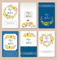 Autumn wedding graphic set vector image