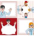 clown doctor cartoon design vector image