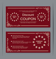 Discount coupon vintage design template vector image