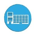 Emblem city school building line sticker vector image