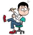 Man working hard vector image