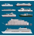 Passenger ships infographic vector image