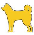 standing dog animal domestic mammal vector image