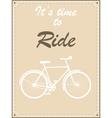 Vintage bike retro vector image