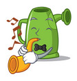 with trumpet watering can character cartoon vector image