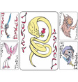 Set of playing joker cards with animals vector image