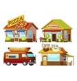 Cartoon Storefronts Set vector image vector image