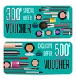 Cosmetics Shop Grand Opening Prepaid Gift Coupon vector image vector image