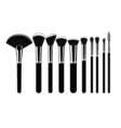 Set of Cosmetic Brushes for Make up vector image