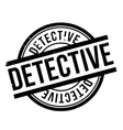Detective rubber stamp vector image