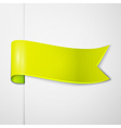 Realistic shiny yellow ribbon isolated on white vector image