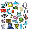 drawn colored picture with computer icons vector image