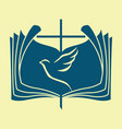 the bible the dove and the cross vector image