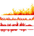 fire banner fame backgrounds vector image