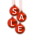 Christmas glassy balls with lettering sale vector image vector image