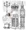 telephone great britain vector image