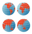 Geographical icons vector image
