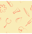 seamless background with medicine symbols vector image
