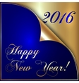 2016 new year gold and dark vector image
