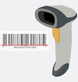 Barcode scanner and barcode vector image