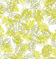 Hawaiian seamless pattern with Monstera leaves vector image vector image