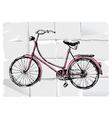 retro bicycle vector image vector image
