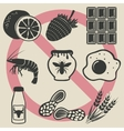 allergy food icons set vector image