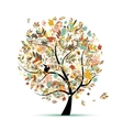 Beautiful autumn tree for your design vector image