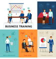 Business Training Concept Composition Banner vector image