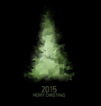 card with abstract green christmas tree vector image
