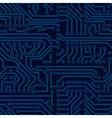 circuit board seamless pattern vector image