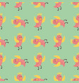 cute birds fly wings seamless pattern vector image