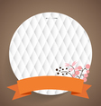 Cute note papers with ribbon and floral bouquets vector image